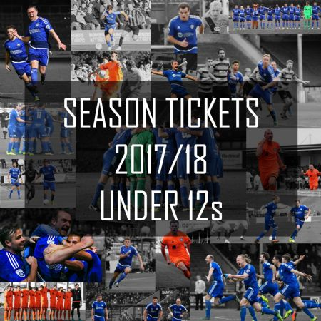 2017 2018 Season Tickets UNDER 12s - MUST be ordered with a paying season ticket